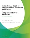 State Of NJ Dept Of Environmental Protection And Energy V Long Island Power Authority