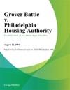 Grover Battle V Philadelphia Housing Authority