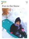 BeginningReads 8-3 Fun In The Snow