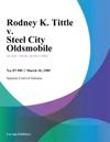 Rodney K Tittle V Steel City Oldsmobile