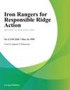Iron Rangers For Responsible Ridge Action