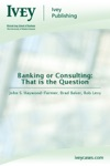 Banking Or Consulting That Is The Question