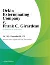 Orkin Exterminating Company V Frank C Girardeau