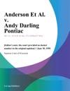 Anderson Et Al V Andy Darling Pontiac