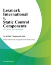 Lexmark International V Static Control Components