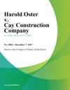 Harold Oster V Cay Construction Company