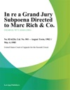 In Re A Grand Jury Subpoena Directed To Marc Rich  Co