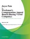 Joyce Pate V Workmens Compensation Appeal Board Boeing Vertol Company