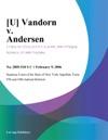 U Vandorn V Andersen