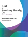 Head V Amoskeag Manufg Co