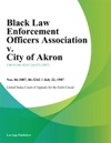 Black Law Enforcement Officers Association V City Of Akron