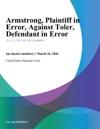 Armstrong Plaintiff In Error Against Toler Defendant In Error