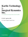 Karlin Technology V Surgical Dynamics Inc