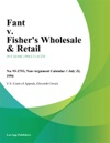 Fant V Fishers Wholesale  Retail