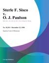 Sterle F Sisco V O J Paulson
