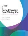 Geier V Eagle-Cherokee Coal Mining Co
