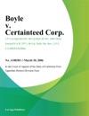 Boyle V Certainteed Corp
