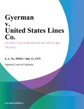 Gyerman V United States Lines Co