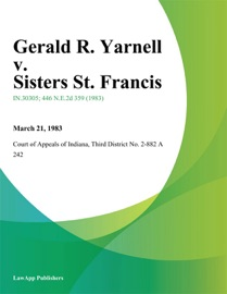 GERALD R. YARNELL V. SISTERS ST. FRANCIS