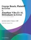 George Beach Plaintiff In Error V Jonathan Viles Et Al Defendants In Error