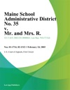 Maine School Administrative District No 35 V Mr And Mrs R