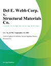 Del E Webb Corp V Structural Materials Co