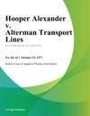 Hooper Alexander V Alterman Transport Lines