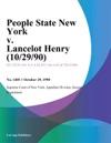 People State New York V Lancelot Henry