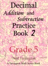Decimal Addition And Subtraction Practice Book 2 Grade 5