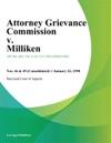 Attorney Grievance Commission V Milliken