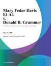 Mary Feder Davis Et Al V Donald B Grammer