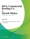 DFw Commercial Roofing Co V Suresh Mehra