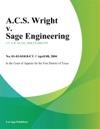 ACS Wright V Sage Engineering