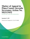 Matter Of Appeal In Pima County Juvenile Severance Action No S-113432