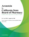 Arenstein V California State Board Of Pharmacy