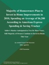 Majority Of Homeowners Plan To Invest In Home Improvements In 2010 Spending An Average Of 6200 According To American Express Spending  Saving Tracker Sellers Market Anticipated In Two Or More Years Still Majority Of Owners Continue To Invest In Home This Year