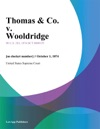 Thomas  Co V Wooldridge