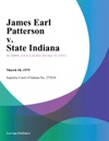 James Earl Patterson V State Indiana