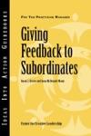 Giving Feedback To Subordinates