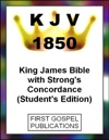 KJV 1850 King James Bible With Strongs Concordance Students Edition