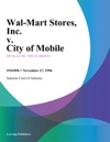 Wal-Mart Stores Inc V City Of Mobile
