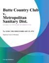 Butte Country Club V Metropolitan Sanitary Dist