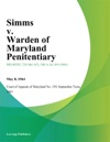 Simms V Warden Of Maryland Penitentiary