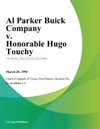 Al Parker Buick Company V Honorable Hugo Touchy