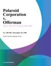 Polaroid Corporation V Offerman
