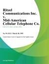 Ritzel Communications Inc V Mid-American Cellular Telephone Co