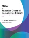 Miller V Superior Court Of Los Angeles County
