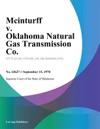Mcinturff V Oklahoma Natural Gas Transmission Co