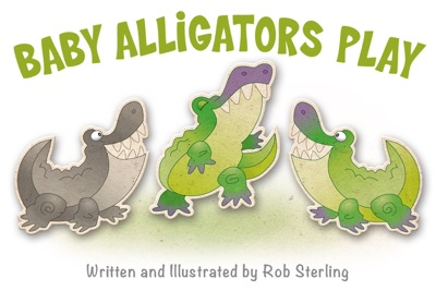 Baby Alligators Play