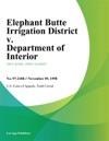 Elephant Butte Irrigation District V Department Of Interior